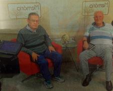 Ex-alunos da turma de 58 são entrevistados por Ademir Medici