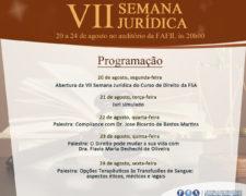 A Fundação Santo André promove a VII Semana Jurídica