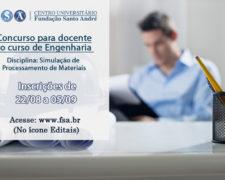Fundação prorroga as inscrições para professor de Engenharia