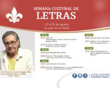 """Semana de Letras """"Profa. Maria de Lourdes Ruegger Silva"""""""