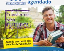 Fundação Santo André prorroga as inscrições do Vestibular Agendado até ao dia 14 de agosto
