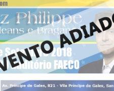 FSA promove palestra com D. Luiz Philippe de Orléans e Bragança