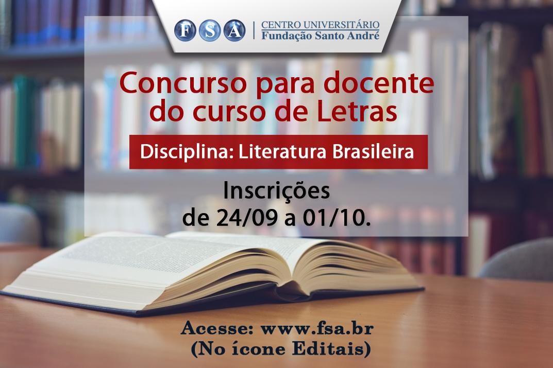 Contratação de docente para a disciplina Literatura Brasileira