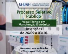 Fundação Santo André abre edital para Técnico em Manutenção Eletrônica