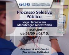 Fundação Santo André abre edital para Técnico em Manutenção Mecatrônica