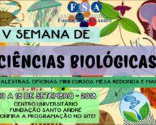V Semana de Biologia – Centro Universitário Fundação Santo André