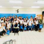 Visita de estudantes do SESI na Fundação Santo André