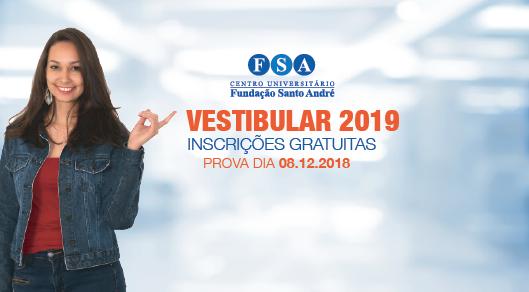 Fundação Santo André realiza vestibular 2019 para 62 cursos, no próximo sábado