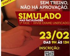 Fundação realiza simulado para a 1ª fase do exame da OAB