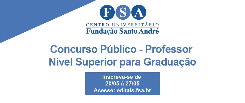Fundação Santo André contrata professores universitários