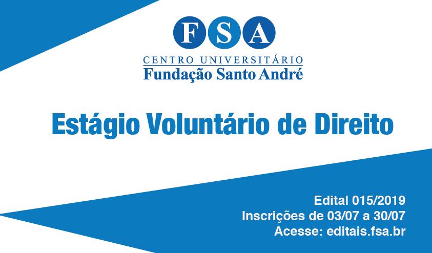 Fundação Santo André contrata estagiários de Direito
