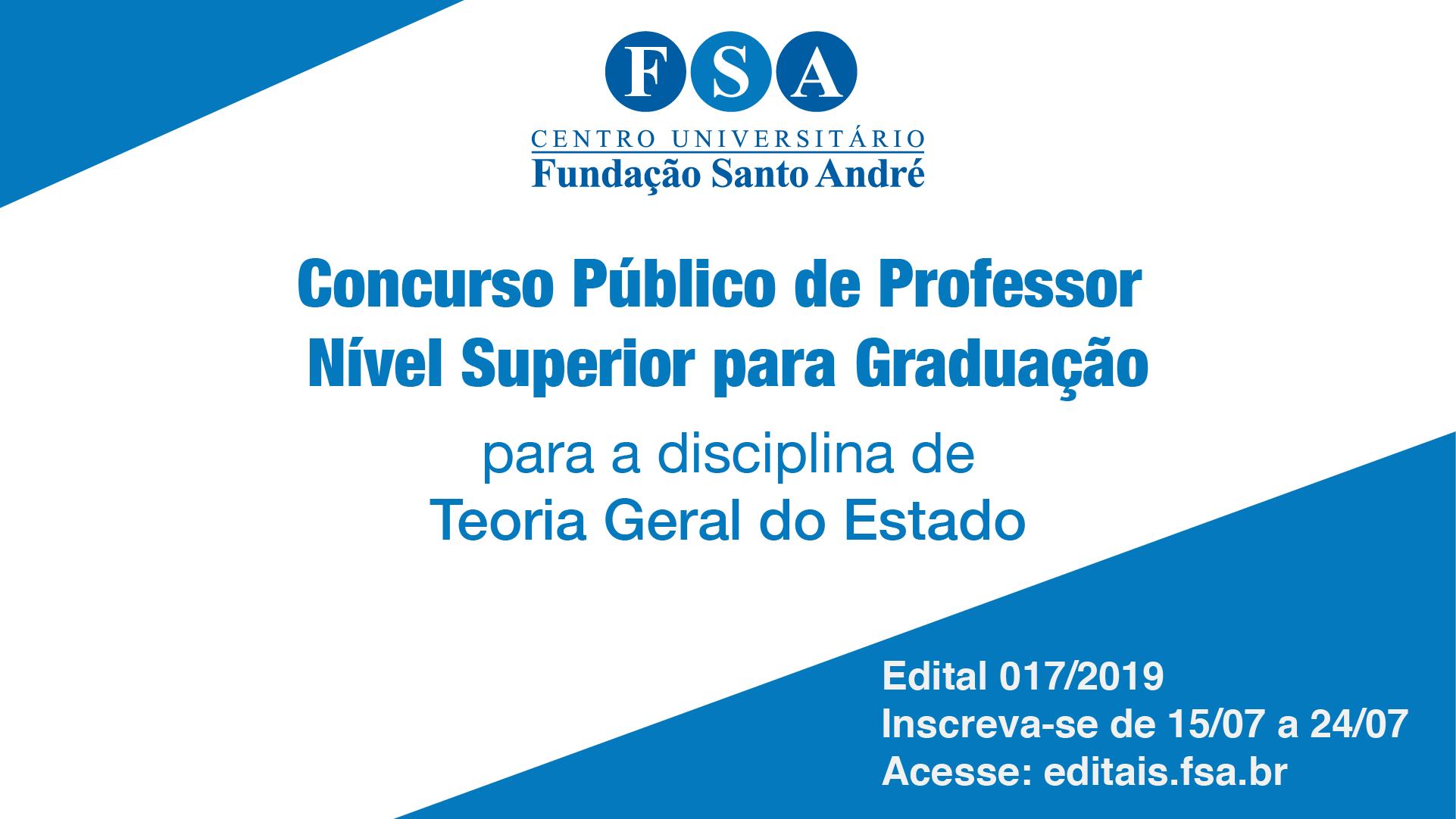 Fundação Santo André contrata professores de Direito