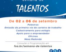 Centro Universitário Fundação Santo André realizará sua 1ª Semana de Talentos