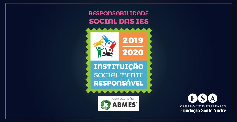 Fundação Santo André recebe o selo IES Socialmente Responsável 2019-2020