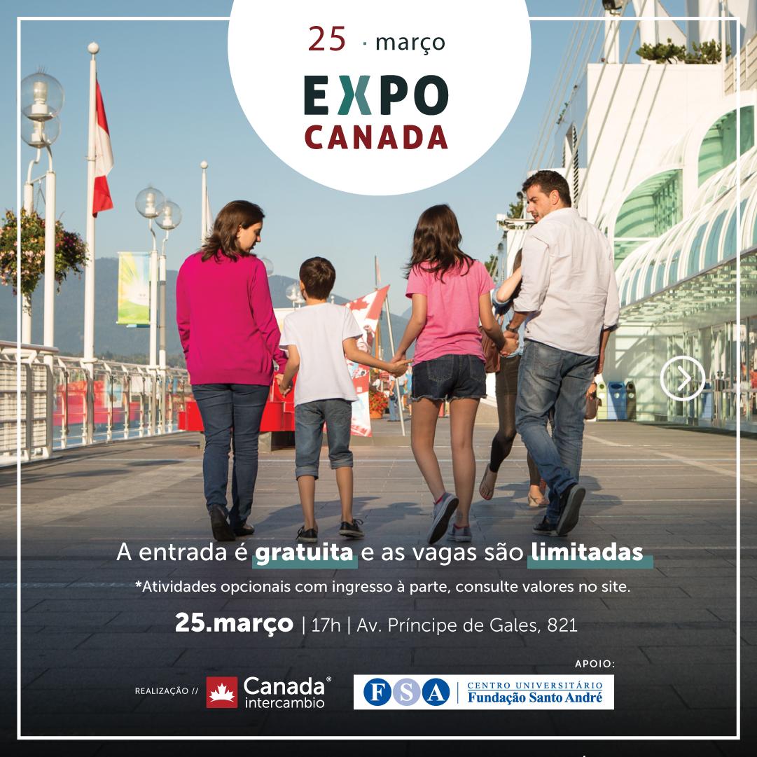 Expo Canadá dia 25 de março em Santo André