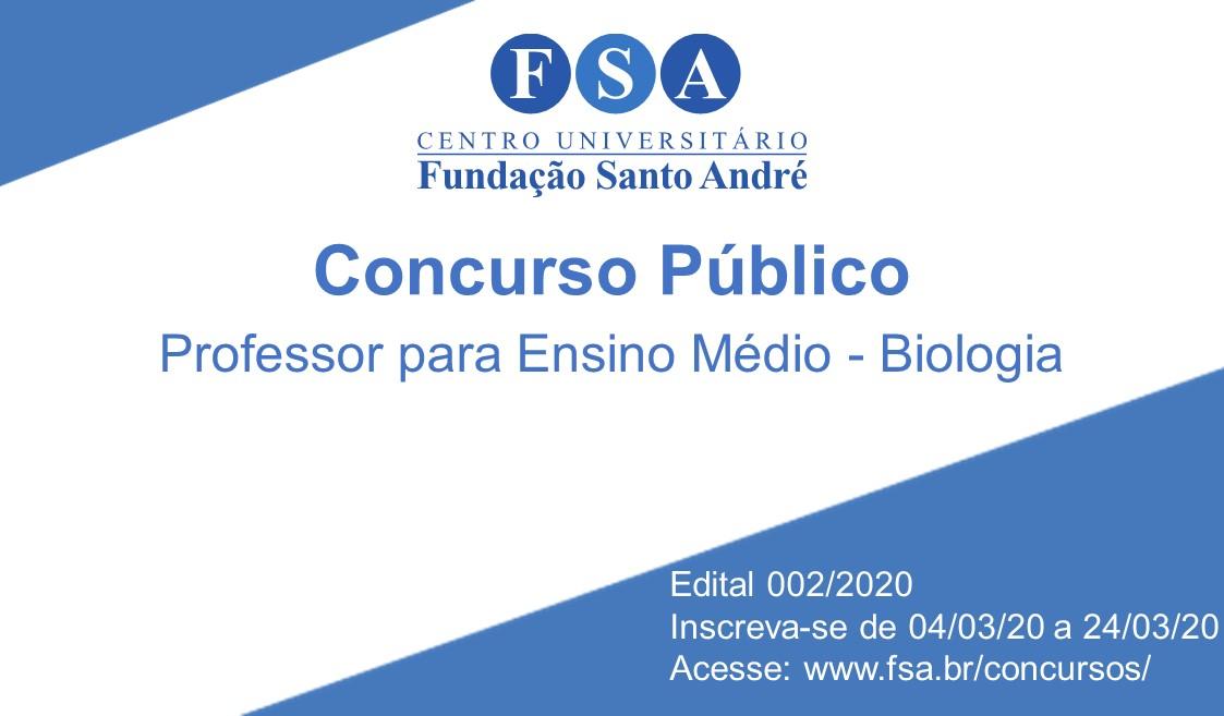 Fundação Santo André contrata professor para o Ensino Médio