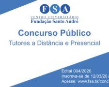 Fundação Santo André contrata Tutores a distância e presencial