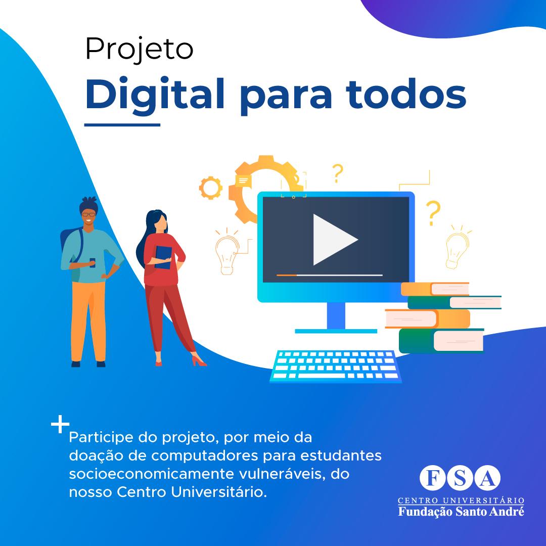 Fundação Santo André organiza projeto de apoio a alunos com recursos tecnológicos limitados