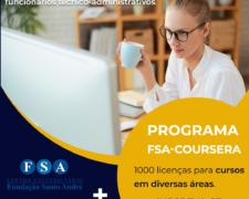 Programa FSA-COURSERA disponibiliza mil licenças de acesso para cursos em diversas áreas – inscreva-se