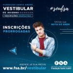 Fundação Santo André prorroga inscrições para vestibular de inverno 2020/2