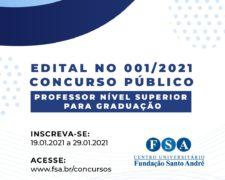 Fundação Santo André contrata Professores – Nível Superior para Graduação