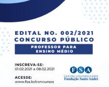 Fundação Santo André contrata Professores para o Ensino Médio