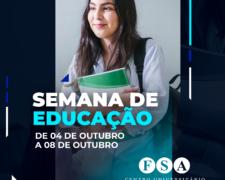 Centro Universitário Fundação Santo André realizará sua Semana de Educação 2021 – online